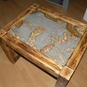 Połączenie drewna z granitem Snack Brown