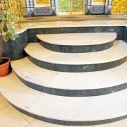 Hajnówka, Cerkiew p.w. Narodzenia Św. Jana Chrzciciela, posadzki marmurowe wraz ze schodami: Carrara, Jura, Verde Gwatemala.